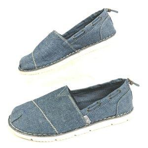 Skechers Bobs Slip On Shoes Flats Womens 9 Denim